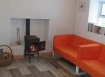 Beach Cottage, Inish Turbot - stove